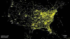 Us Airways Route Map by September 11 Faa Closure Of Us Airspace Youtube