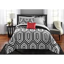 Batman Bedroom Set Mainstays Classic Noir Bed In A Bag Bedding Set Walmart Com