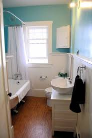 small bathroom wall colors turquiose color with wainscoting amys