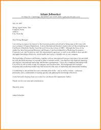 Financial Resume Sample by Resume Formal Letter For Job Application Sample Financial