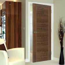 Interior Veneer Doors Brisa Mistral Flush Walnut Veneered Door With Decorative Groove