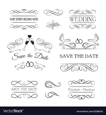 vintage ornaments collection of vector image