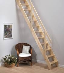 Mezzanine Stairs Design Neutral Minimalist Wooden Staircase Design For Small Space With