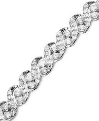 chain diamond bracelet images Diamond bracelet in 14k white gold 3 ct t w bracelets tif