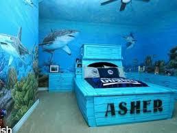 chambre ado fille bleu chambre enfant monde marin vrai comte magique bleu deco