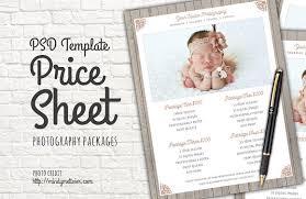 photography packages photography packages price list psd templates creative market
