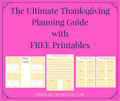 thanksgiving planning guide printables