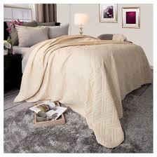 Bed Quilt Solid Color Bed Quilt King Ivory Yorkshire Home Target