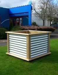 Corrugated Metal Planters by Nz Furniture Corrugated Wood Frame Planter Box