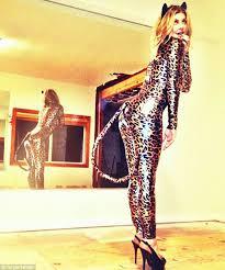 Girls Cheetah Halloween Costume Halloween Early Fergie Shows Skintight