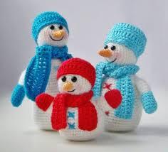 pdf pattern amigurumi snowfamily snowmen company in crochet