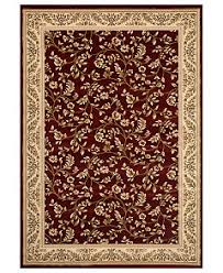 closeout km home rugs princeton floral red rugs macy u0027s