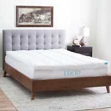What Is A Feather Bed Amazon Com Lucid Plush Down Alternative Fiber Bed Topper