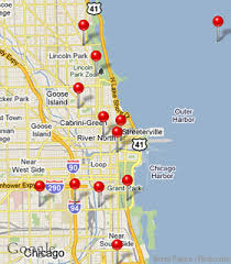 chicago map with attractions chicago streeterville neighborhood map from chicago traveler