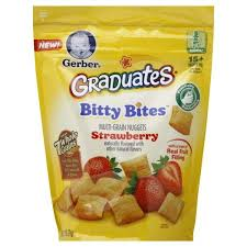 graduates snacks gerber graduates bitty bites multigrain snack strawberry 2 5 oz
