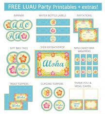 free printable luau themed name tags themed name tags free