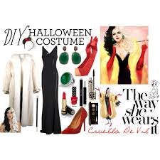 Cruella Vil Halloween Costume Diy Halloween Costume Cruella Vil Polyvore