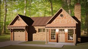 small house plan with double garage three bedrooms floor plan