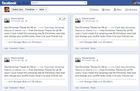 facebook spam get christmas theme for facebook auto tags your