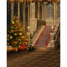 christmas photography backdrops 5x7ft xmas gift staircase ball bow