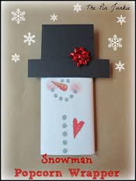 the pin junkie snowman printable popcorn wrapper
