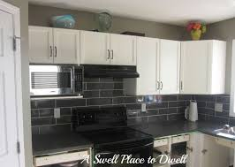 tiles backsplash white kitchen red accents flat panel cabinet