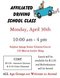 senior driving class driving class banquets and brunch upcoming april events ksst