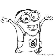 Dave The Minion Is Happy Coloring Pages Printable Happy Coloring Pages