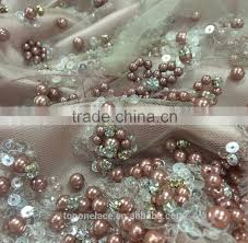 tulle fabric wholesale alibaba wholesale beaded embroidery lace beaded tulle