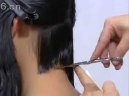 concave bob hairstyle pictures concave bob hair cut part 1 youtube