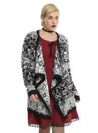 fair isle sweater dress black white skull fair isle flyaway cardigan plus size