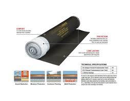 Floor Comfort Underlayment Review Black Jack 100 Sq Ft 28 Ft X 43 In X 2 5 Mm Roll Of 2 In 1