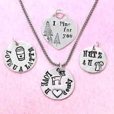 Hand Stamped Necklace Hand Stamped Jewelry