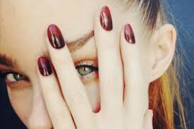 11 nail designs dark colors burgundy and black matte ombre nails