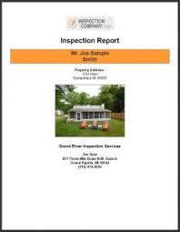 sample house inspection report sample report grand river inspection services