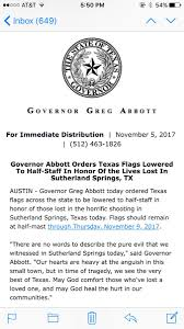Texas Flag Half Staff Texas Gov Dallas Topics Top Local Now