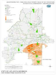 City Of Atlanta Map by Tsw Southside Park Master Plan