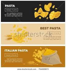 web cuisine pasta cuisine restaurant web banners เวกเตอร สต อก 754690873