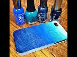 diy ombre phone case made with nail polish diy pinterest