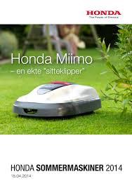 honda hage og park 2014 grim maskin service