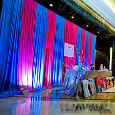wedding backdrop curtains 3 6m blue and fuchsia wedding backdrop curtain silk