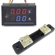 drok yb27va 50a digital dual display voltmeter black amazon co