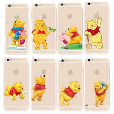 super cute winnie pooh design transparent pc case cover apple