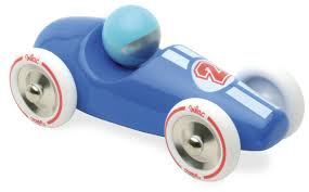 car toy blue amazon com vilac mini old sports car blue push and pull baby