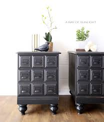 Nightstand With Drawer Apothecary Style Nightstands In Liquorice A Ray Of Sunlight