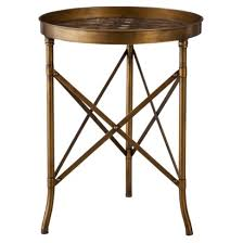Accent Side Table Metallic Bronze Side Table Re Fresh By Design