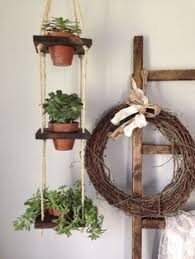 Wall Hanging Planters by 2 Tier With Pots Vertical Wall Planter Wood Hanging