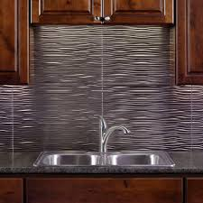 Kitchen Sink Backsplash Waves Pvc Decorative Tile Backsplash Brushed Nickel Exceptional