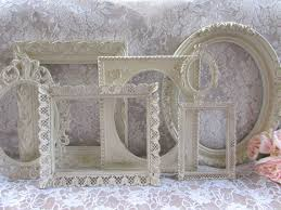 shabby chic frames vintage frame set ornate frames cream white