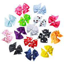 cheap hair bows breast cancer awareness bows made with pink white and neon